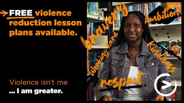 Free violence reduction lesson plans available